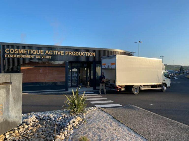 Les Transports Thevenet livrent masques et gel hydroalcoolique pour l'ordre des médecins de l'Allier! (24/03/2020)