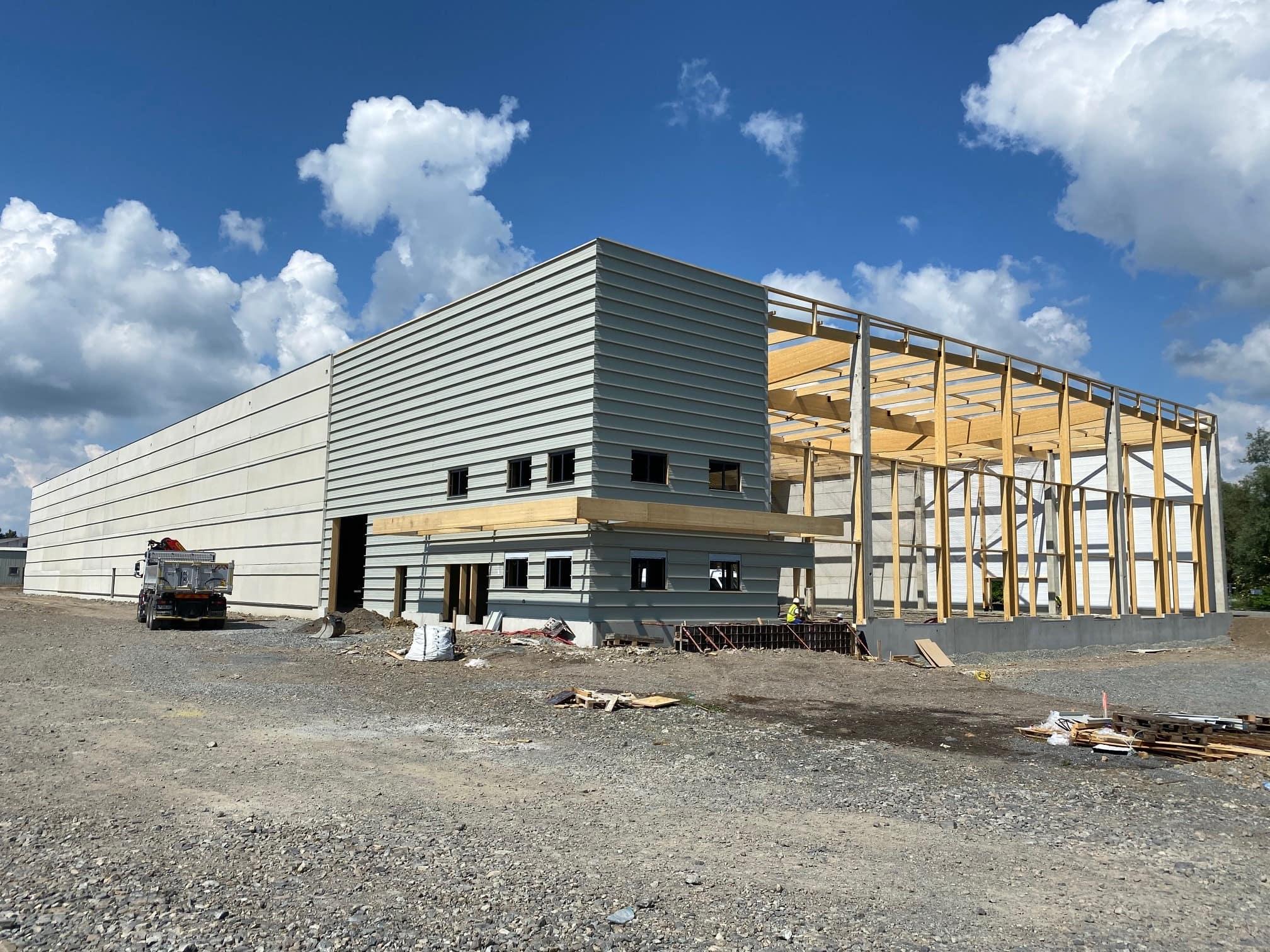 You are currently viewing Les travaux de notre nouvel entrepôt logistique (09/06/2021)